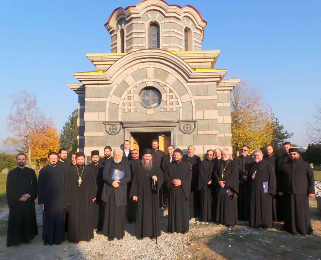Обилазак радова на спомен капели у Маутхаузену